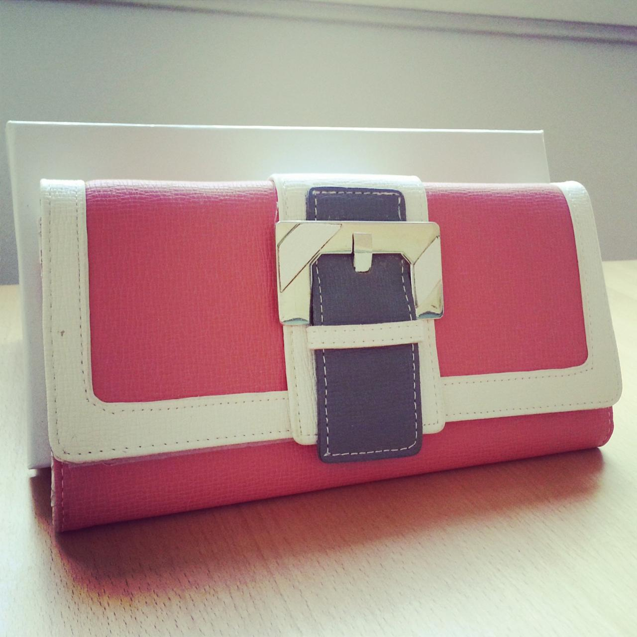 wallet purse pastel color block on luulla